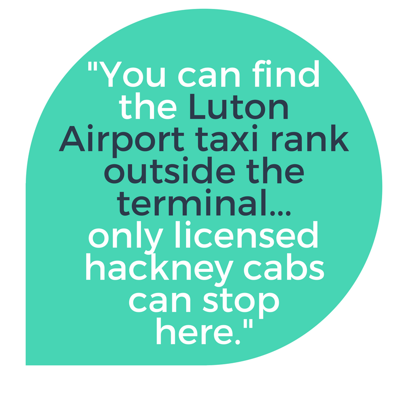Speech Quote: The Luton airport taxi rank is outside the front of the terminal