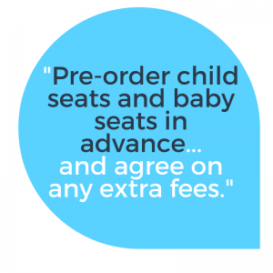 Speech Quote: Order child and baby seats in advance when booking a Luton Airport taxi