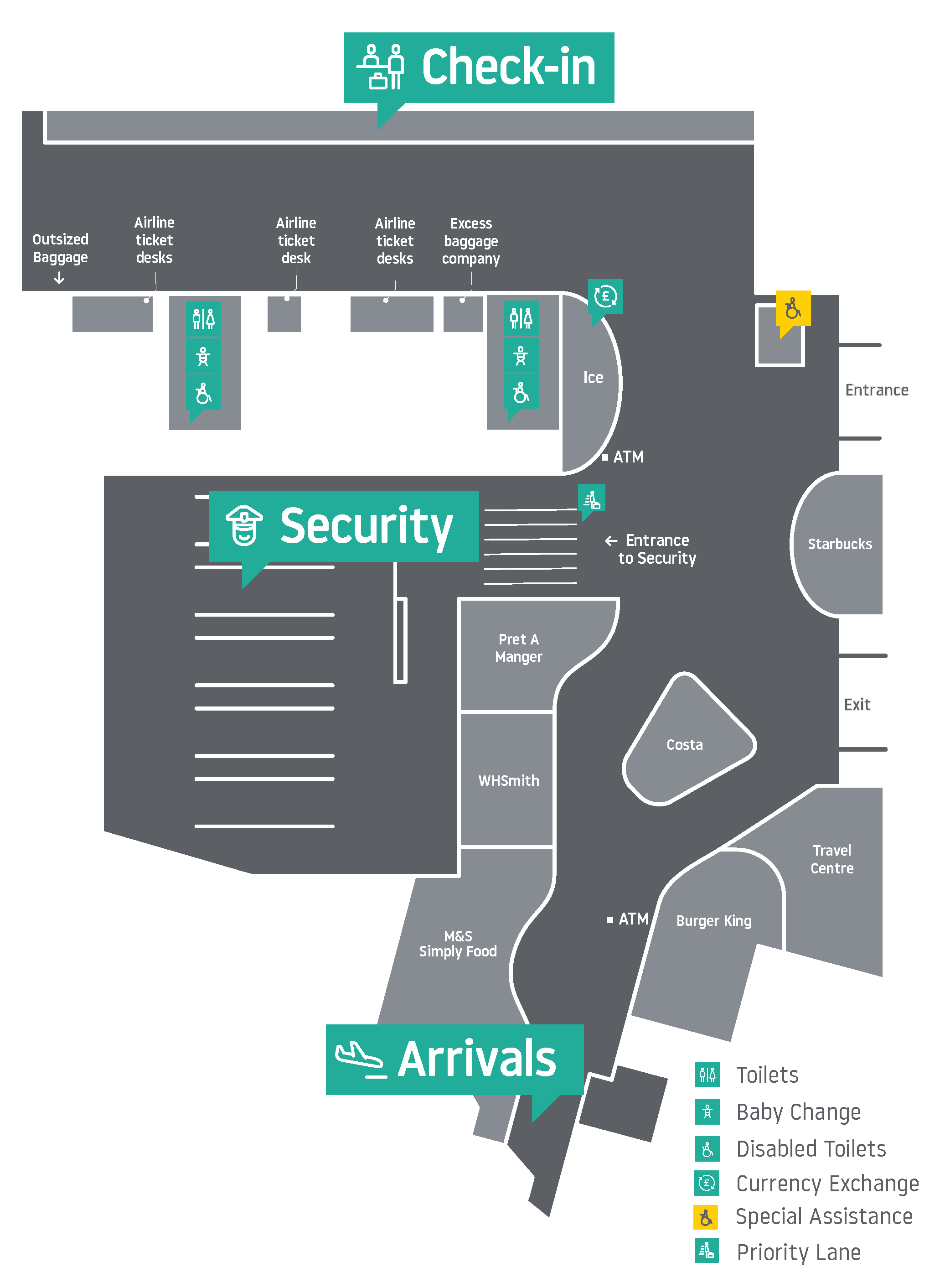 Luton Terminal Maps - Check in