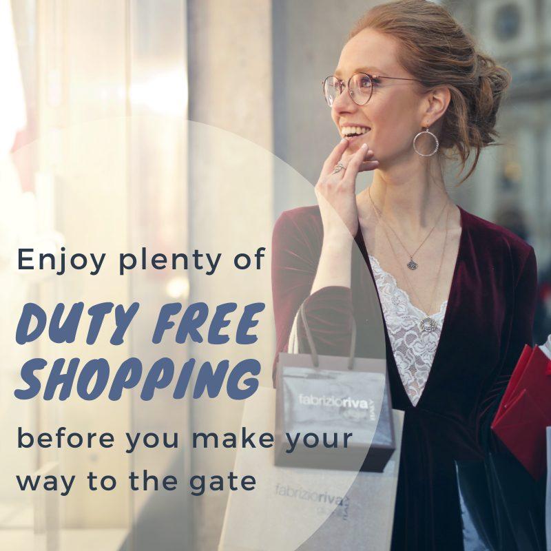 Luton Airport Terminal - duty free shopping